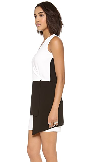 Tibi Bibelot Crepe Wrap Front Dress
