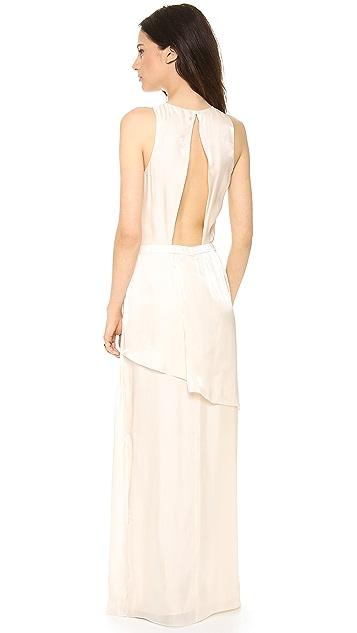 Tibi Flume Asymmetrical Wrap Dress