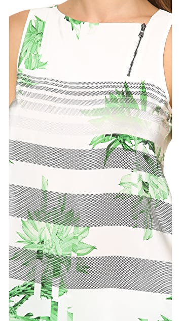 Tibi Sierra Sleeveless Zipper Top