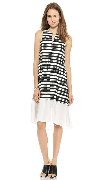 Tibi Sleeveless Summer Stripe Dress