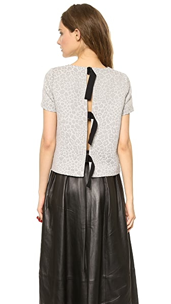 Tibi Tie Back Top