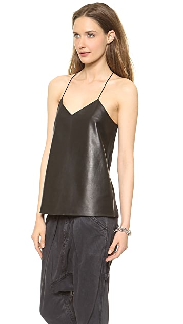 Tibi Leather Camisole