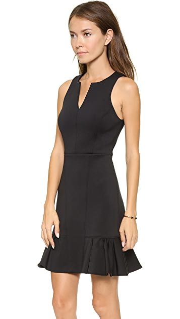 Tibi Split Neck Sleeveless Dress