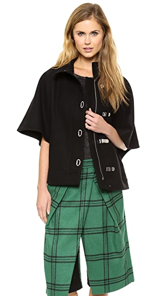 Tibi Wool Cape Jacket