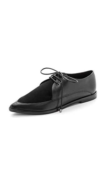 Tibi Kern Pointed Toe Oxfords