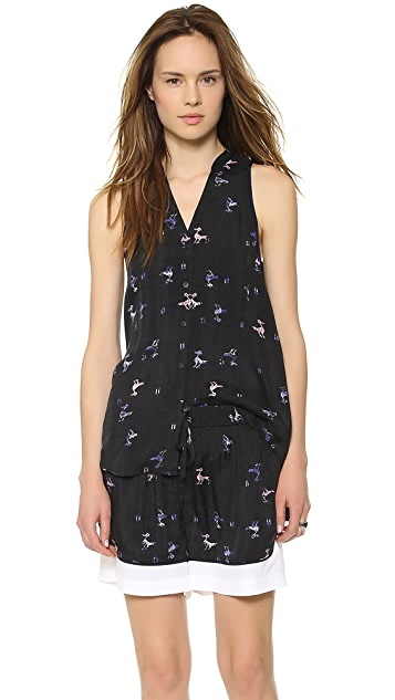 Tibi Rio Print Sleeveless Top