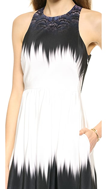 Tibi Ibis Bordered Cross Back Dress