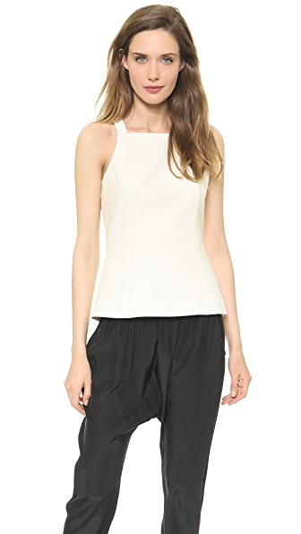 Tibi Anson Square Neck Top
