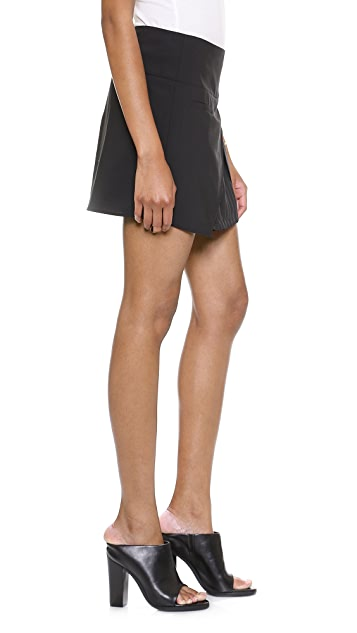 Tibi Miniskirt with Pleat Detail