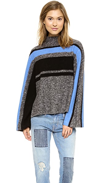 Tibi Striped Cape Pullover