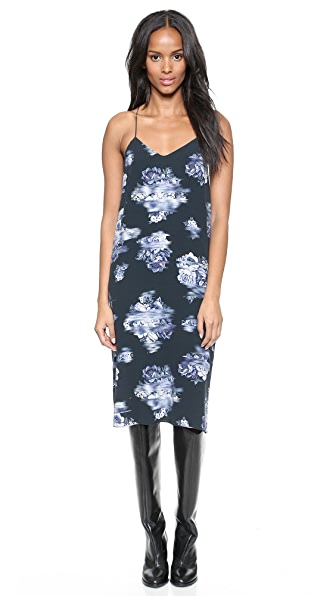 Tibi Printed Slip Dress