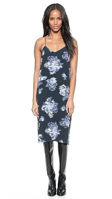 Tibi Printed Slip Dress