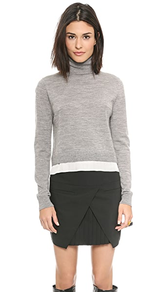 Tibi Woven Back Turtleneck