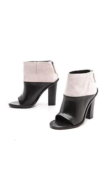 Tibi Ondria Open Toe Ankle Booties