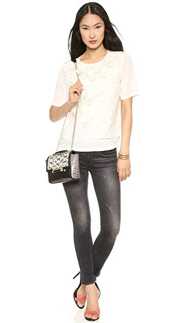 Tibi Dandelion Embellished Top