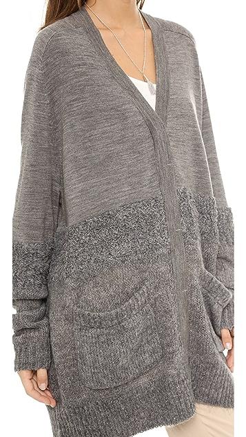 Tibi Mohair Oversized Cardigan