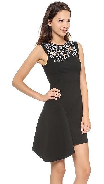Tibi Blossom Cutout Embroidered Sleeveless Dress