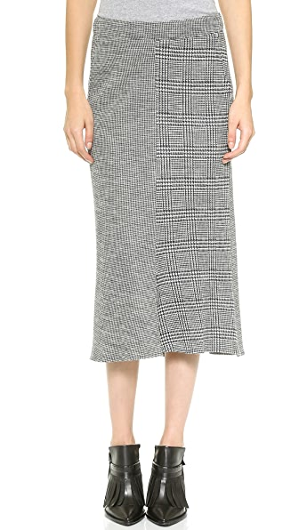 Tibi Chadwick Pleated Knit Skirt