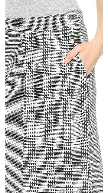 Tibi Chadwick Pleated Knit Skirt