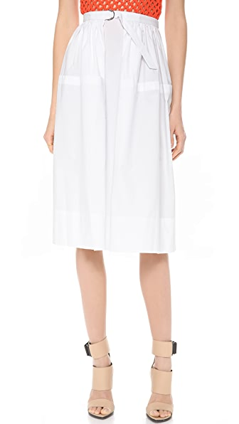 Tibi Ultra Matte Poplin Full Skirt