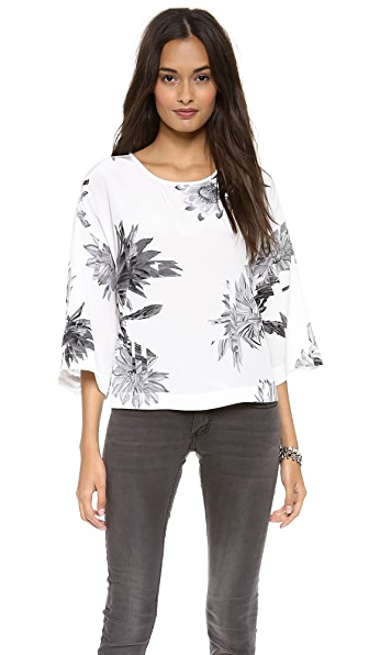 Tibi Sierra Scoop Neck Top