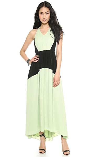 Tibi Drape Colorblock Dress