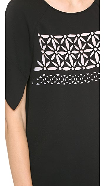 Tibi Split Sleeve Top