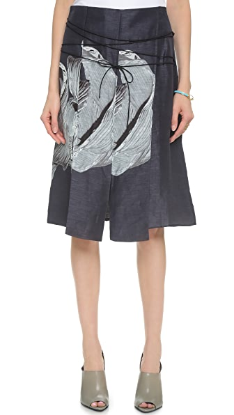 Tibi Asymmetrical Paneled Skirt