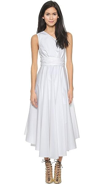 Tibi One Shoulder Wrap Dress