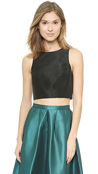 Tibi Cropped Top - Black