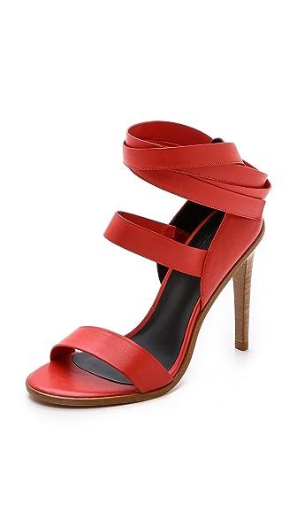 Tibi Pierce Ankle Wrap Sandals