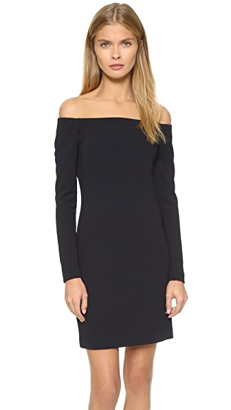 Tibi Off Shoulder Dress - Black