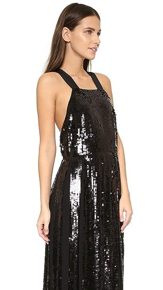 19987c0160f Tibi Eclair Sequin Overall Dress