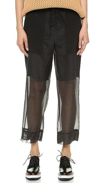 Tibi Isa Cropped Cargo Pants - Black