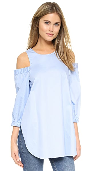 Tibi Cutout Shoulder Tunic