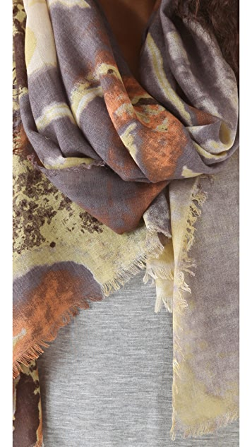 Tilo Abstract Flower Print Scarf