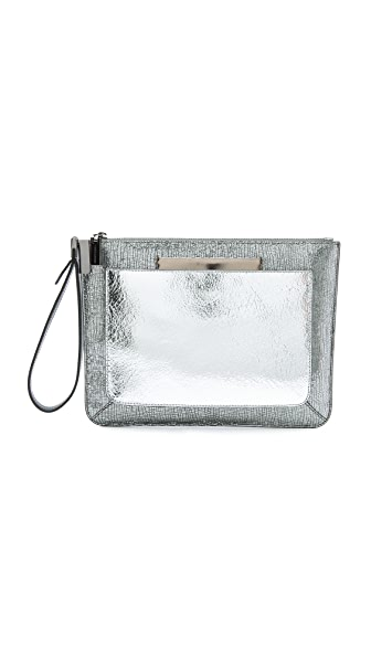 Time's Arrow Ishi Small Metallic Wristlet