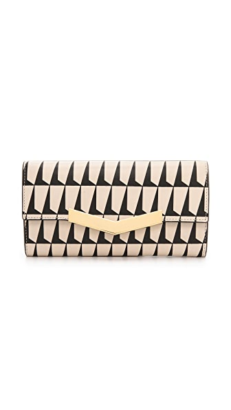 Time's Arrow Print Chevron Wallet