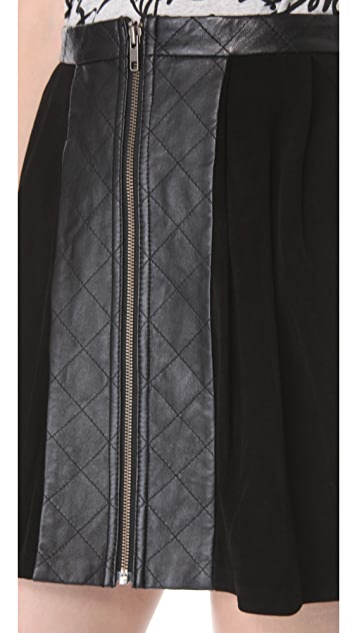 Timo Weiland Alena Quilted Leather Skirt