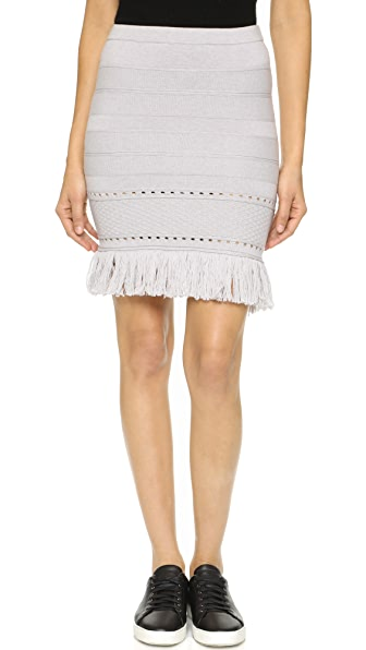 Timo Weiland Fringed Knit Skirt / Tunic