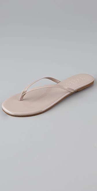 TKEES Glosses Patent Thong Sandals