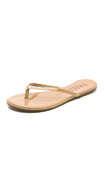 TKEES Sunscreens Patent Flip Flops - SPF 15