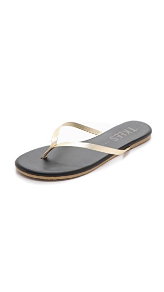 TKEES Pop Colors Metallic Flip Flops