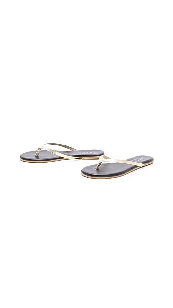 TKEES Pop Colors Metallic Flip Flops