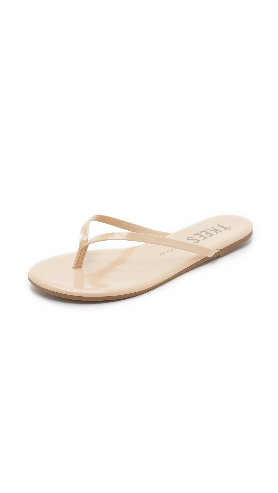 tkees female tkees sunscreens patent flip flops spf 30