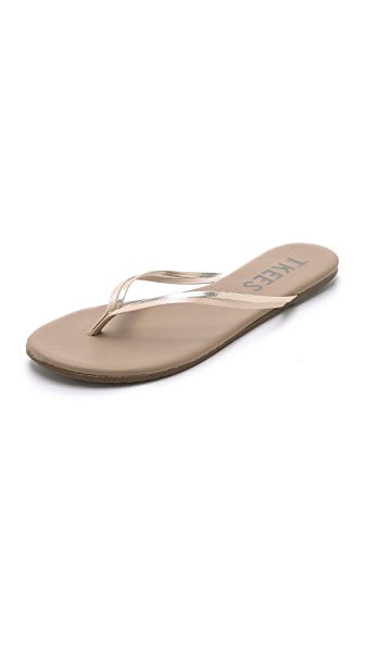 TKEES Duos Flip Flops in Oyster Shell