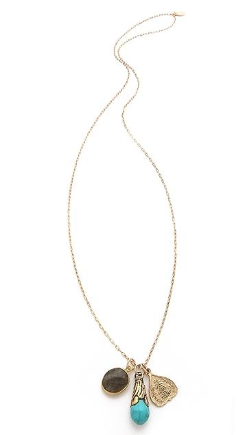 T. Kilburn Labradorite Cluster Charm Necklace