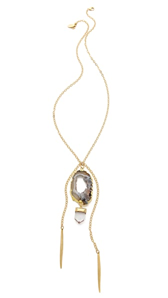 T. Kilburn Geode Crystal & Needles Necklace