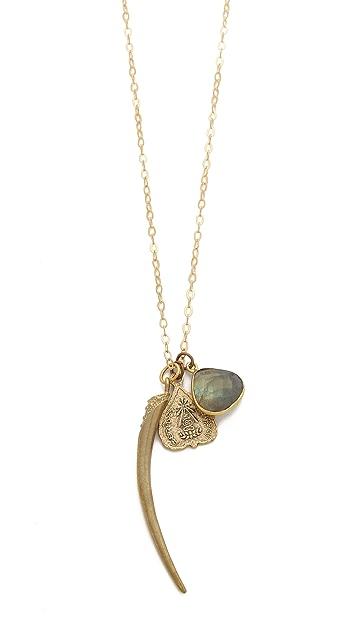 T. Kilburn Horn Cluster Necklace