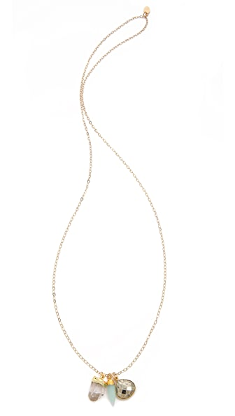 T. Kilburn Crystal Howlite Cluster Necklace